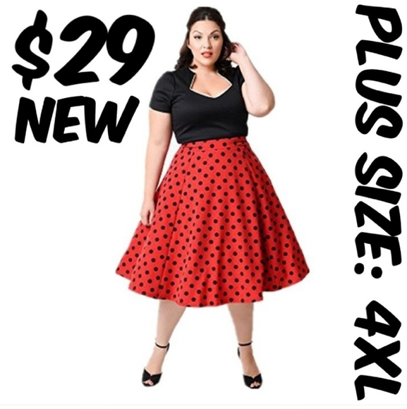 Plus Size Swing Pin Up Clothing Dress 50s Swing